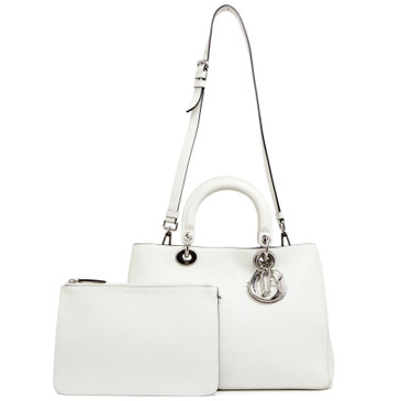Christian Dior White Bullcalf Medium Diorissimo