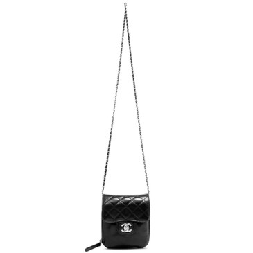 Chanel Black Quilted Lambskin Mini Crossbody