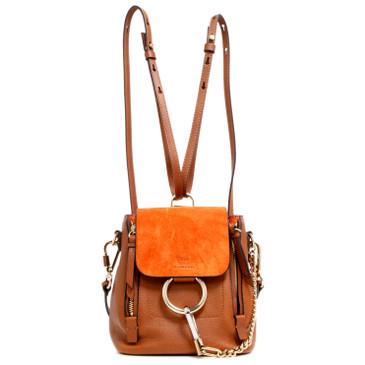 Chloe Tan Calfskin Mini Faye Backpack