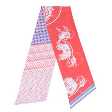 Hermes Silk Ex-Libris en Cravates Maxi Twilly