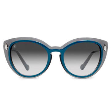 Louis Vuitton Teal & Grey Willow Sunglasses