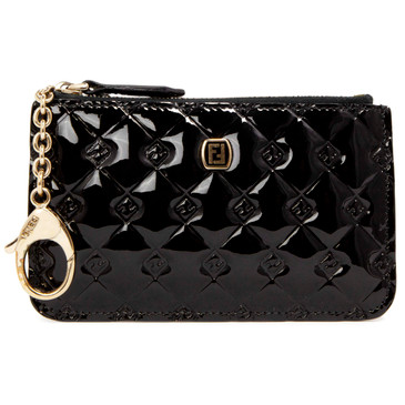Fendi Black Patent Key Pouch