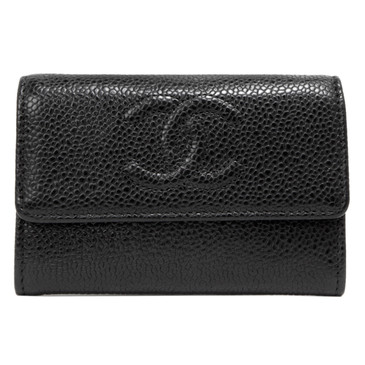 Chanel Black Caviar Timeless Card Holder