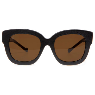 Louis Vuitton Tortoise & Black Leather Audrey Sunglasses
