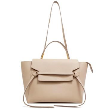 Celine Taupe Grained Calfskin Mini Belt  Bag