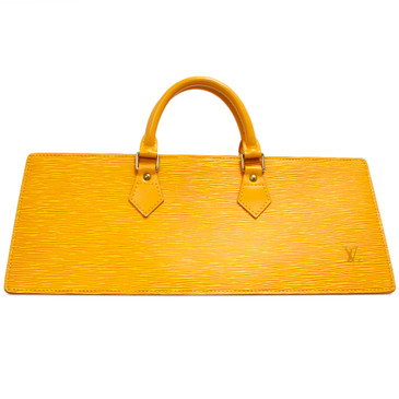Louis Vuitton Yellow Epi Sac Triangle