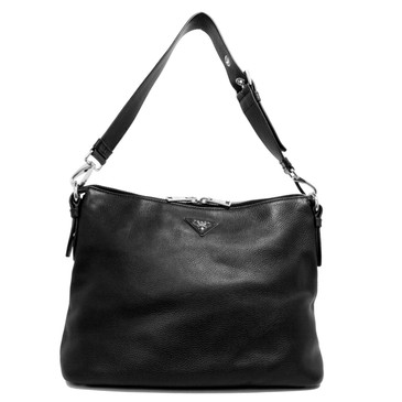 Prada Black Vitello Daino Shoulder Bag