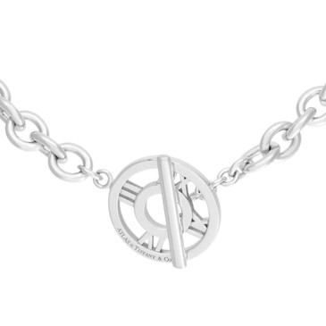 Tiffany & Co. Sterling Silver Atlas Toggle  Necklace