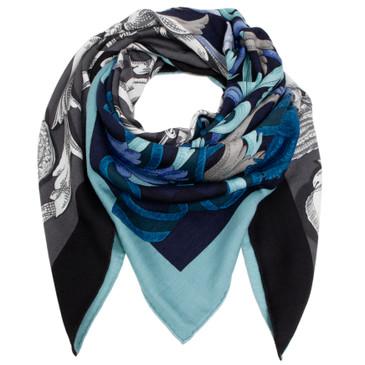 Hermes Cashmere/Silk Le Mors A La Conetable Shawl 140
