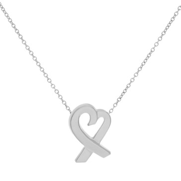 Tiffany & Co. Sterling Silver Small Loving Heart Pendant Necklace