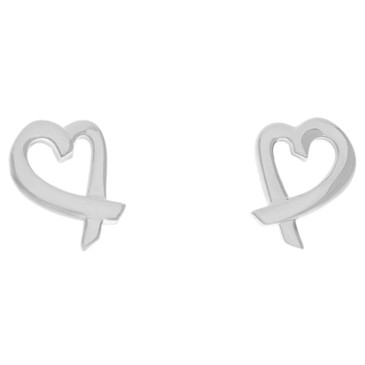 Tiffany & Co. Sterling Silver Loving Heart Earrings