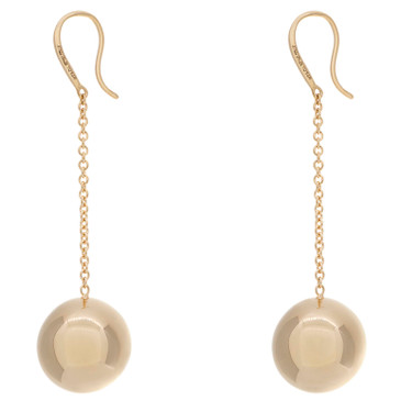 Tiffany & Co. 18K Yellow Gold HardWear Ball Hook Earrings