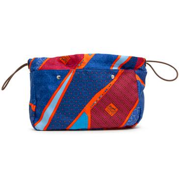 Hermes Silk Fourbi Carre en Cravates Pouch