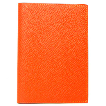 Hermes Orange Epsom MC2 Magellan Passport Holder