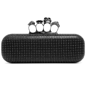 Alexander McQueen Studded Skull Knuckle Box  Clutch