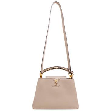 Louis Vuitton Galet Taurillon Leather  Capucines  BB