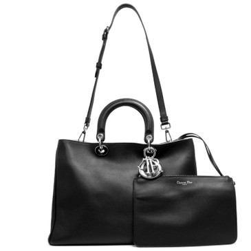 Christian Dior Black Smooth Calfskin Large Diorissimo