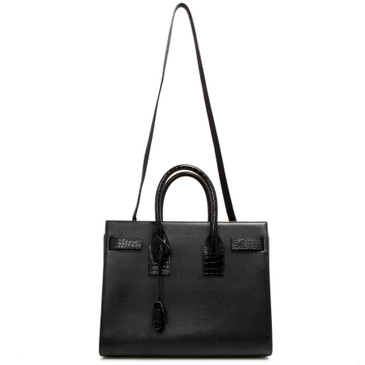 Saint Laurent Black Calfskin Small Sac de Jour