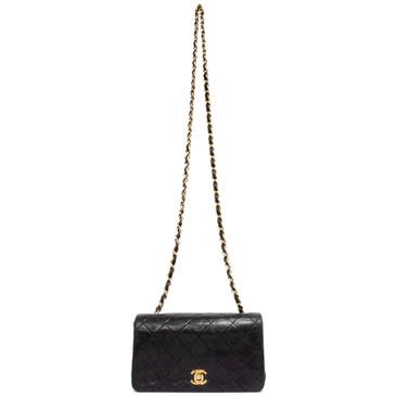 Chanel Black Lambskin Vintage Mini Flap