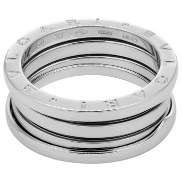Bvlgari 18K White Gold B.zero1  Three Band  Ring
