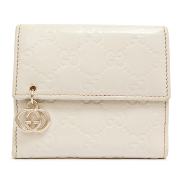 Gucci Ivory Guccissima Compact Wallet