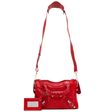 Balenciaga Rouge Cardinal Agneau Giant 12 Mini City