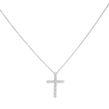 Tiffany & Co. 950 Platinum & Diamond Cross Pendant