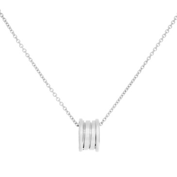 Bvlgari 18K White Gold B.Zero1 Pendant Necklace