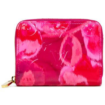 Louis Vuitton Fuchsia Vernis Ikat Zippy Coin Purse
