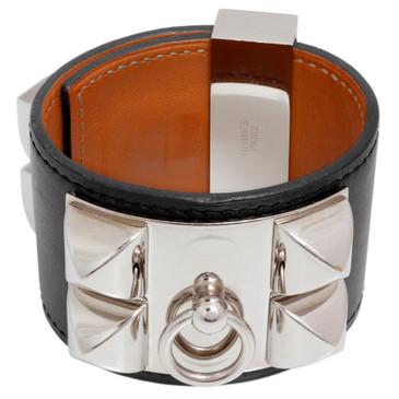 Hermes Black Chamonix Collier de Chien Bracelet CDC