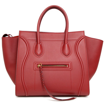 Celine Merlot Calfskin Medium Phantom