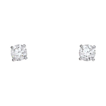 Cartier 18K White Gold Diamond Stud Earrings