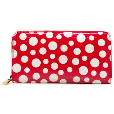 Louis Vuitton Red Vernis Yayoi Kusama Dots Infinity Zippy Wallet