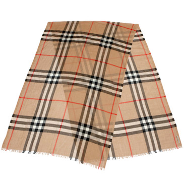 Burberry Wool/Silk Giant Check Scarf