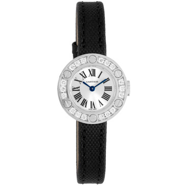 Cartier 18K White Gold & Diamond Love Watch WE800331
