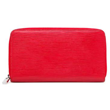 Louis Vuitton Red Epi Zippy  Organizer