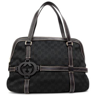 Gucci Black Monogram GG Royal Satchel