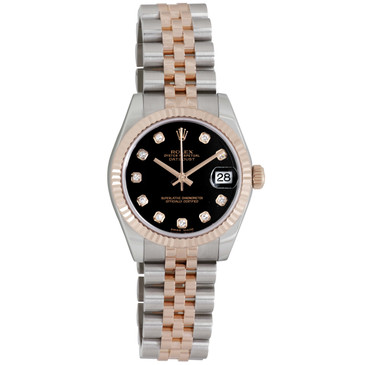 Rolex 18K Everose & Stainless Steel Diamond Dial Datejust 31 178271