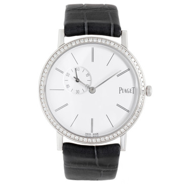 Piaget 18K White Gold Diamond 34mm Altiplano Watch GOA39106