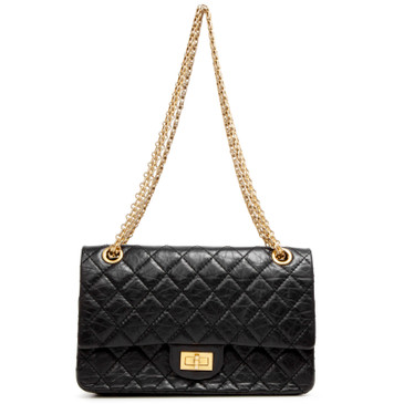 Chanel Black Aged Calfskin 2.55 Reissue Double Flap 225