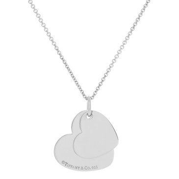 Tiffany & Co. Sterling Silver Double Heart Pendant