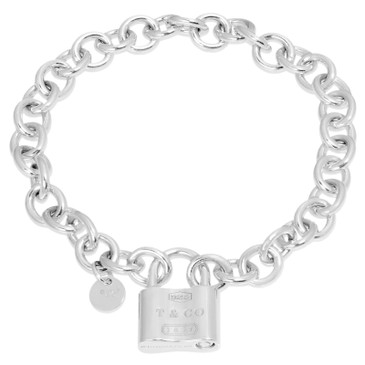 Tiffany & Co. Sterling Silver 1837 Lock Charm Bracelet