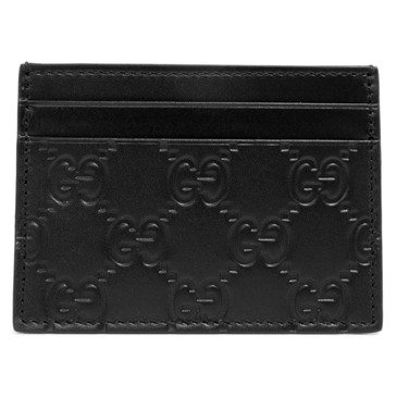 Gucci Black Guccissima Card Case