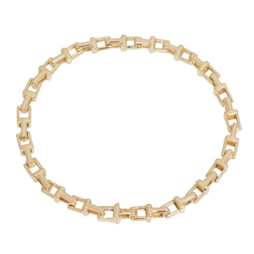 Tiffany & Co. 18K Yellow Gold T Narrow Chain Bracelet