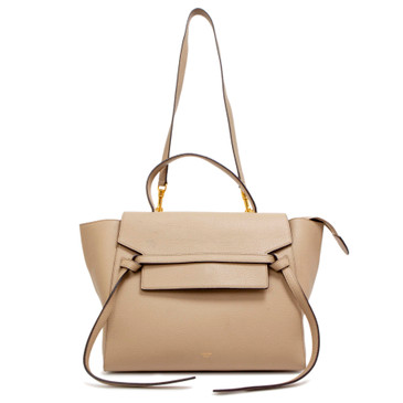 Celine Taupe Grained Calfskin Mini  Belt Bag