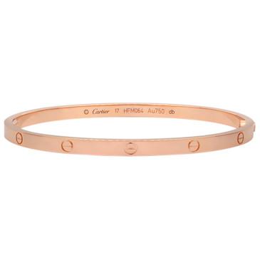 Cartier 18K  Pink Gold Love Bracelet SM