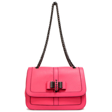Christian Louboutin Pink Calfskin Small Sweet Charity Bag