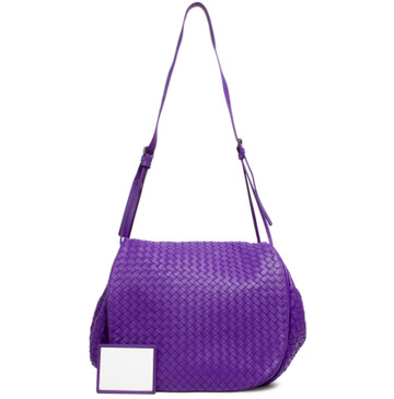 Bottega Veneta Purple Intrecciato Nappa Messenger Bag