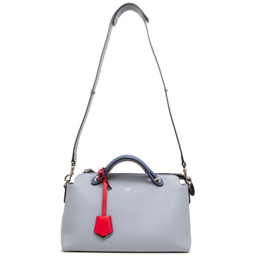 Fendi Blue Calfskin Medium By The Way Bag
