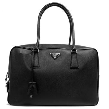 Prada Black Saffiano Bauletto Bag
